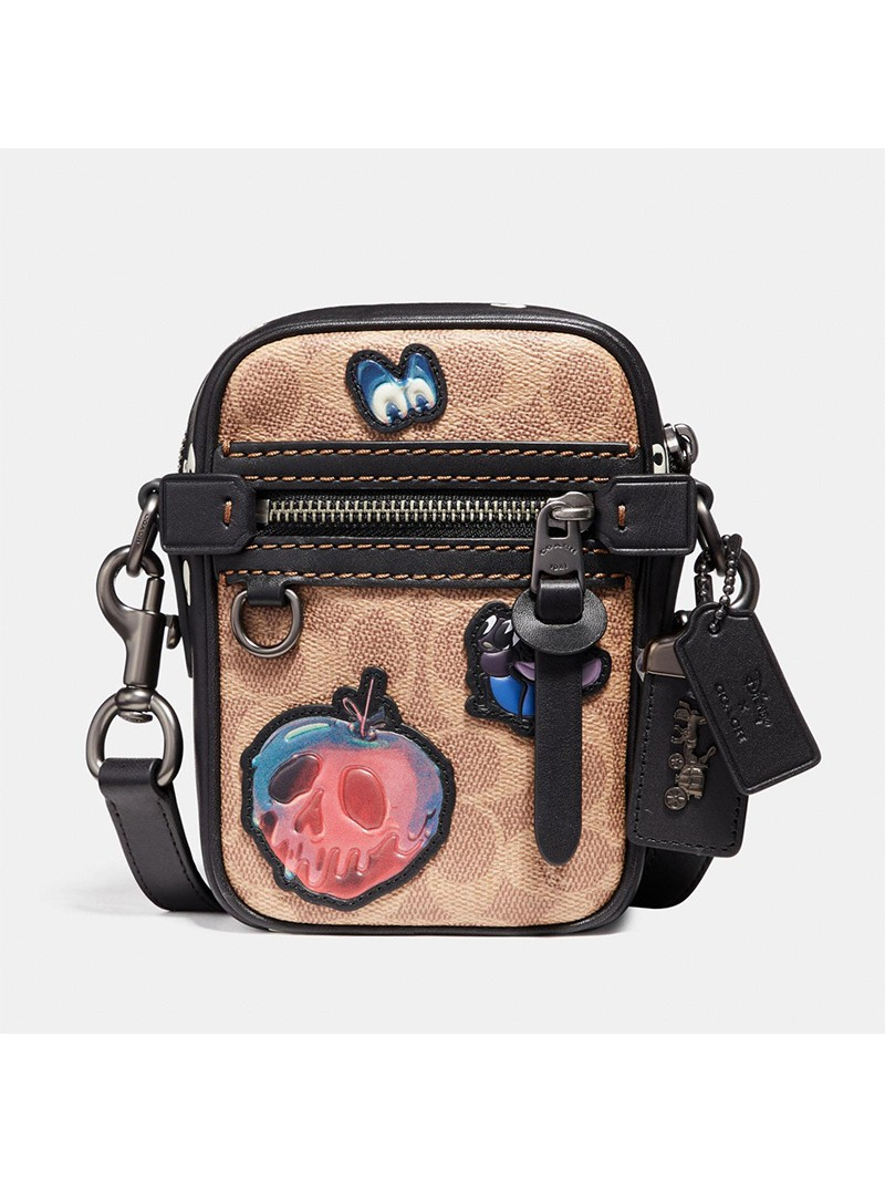 Disney x Coach Dylan Bag 10 with Patchwork In Signature Canvas Khaki