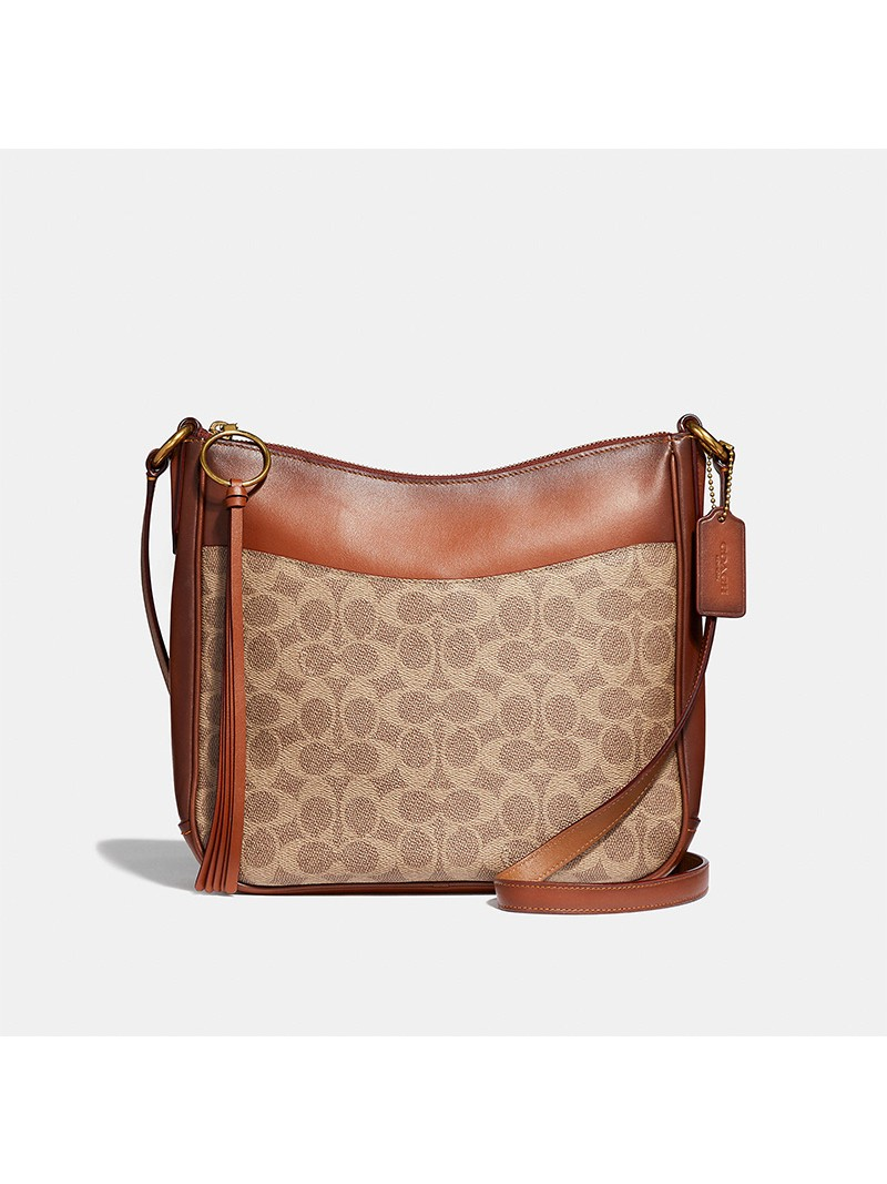 Coach Chaise Crossbody In Signature Canvas Brown