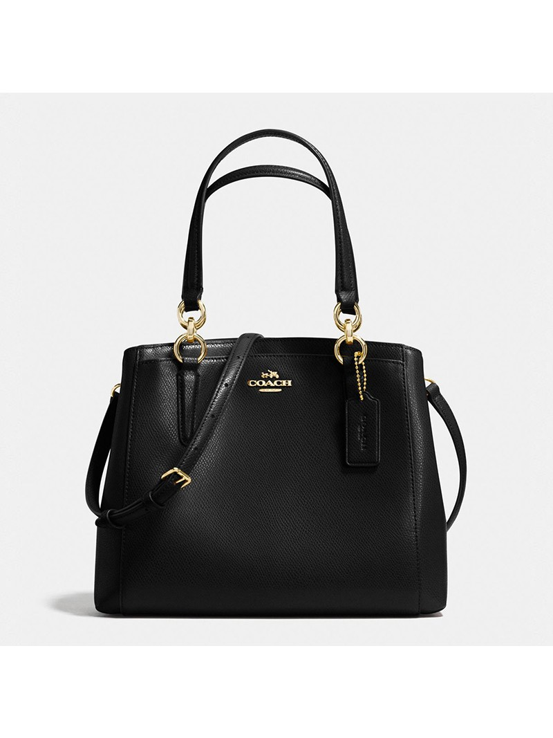 Coach Minetta Crossbody in Crossgrain Leather Black