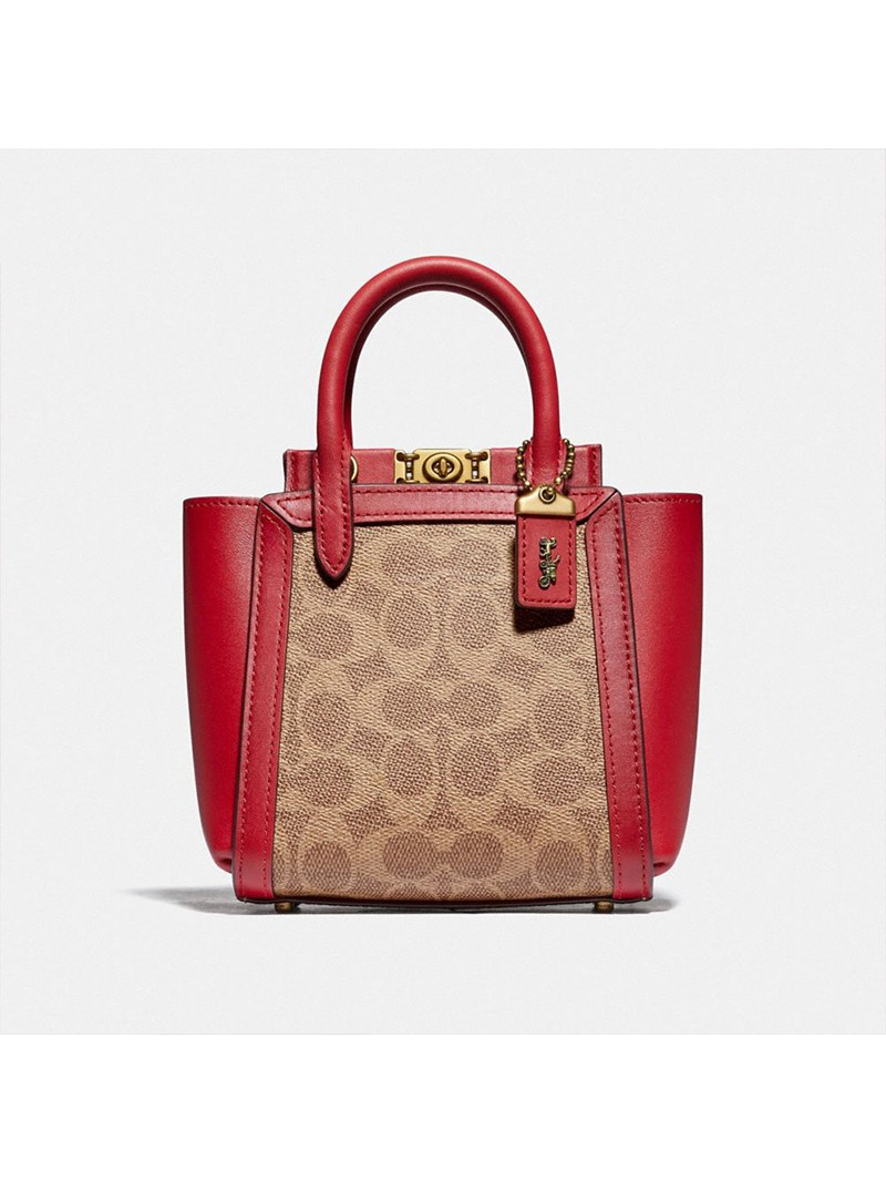 Coach Troupe Tote 16 In Signature Canvas Red