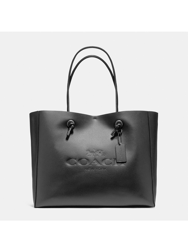 Coach Shopping Tote 39 in Pebble Leather Black