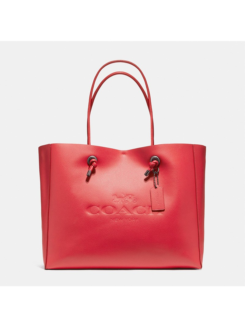 Coach Shopping Tote 39 in Pebble Leather Red