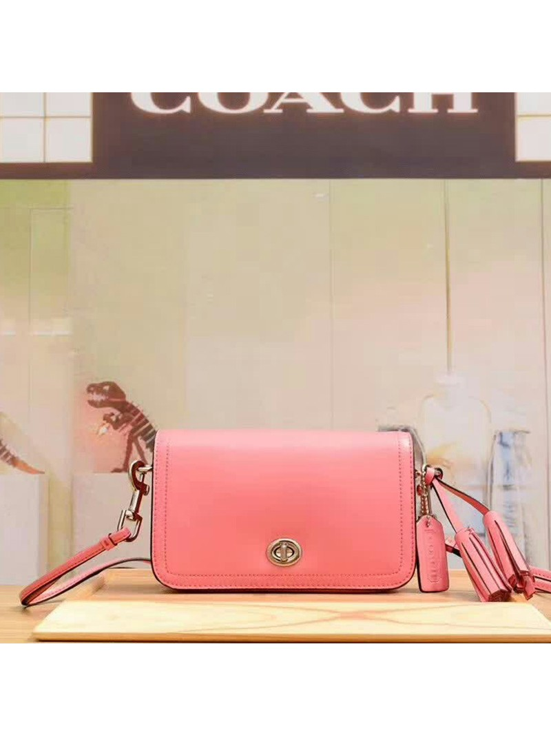 Coach Penny Shoulder Purse in Glovetanned Leather Pink