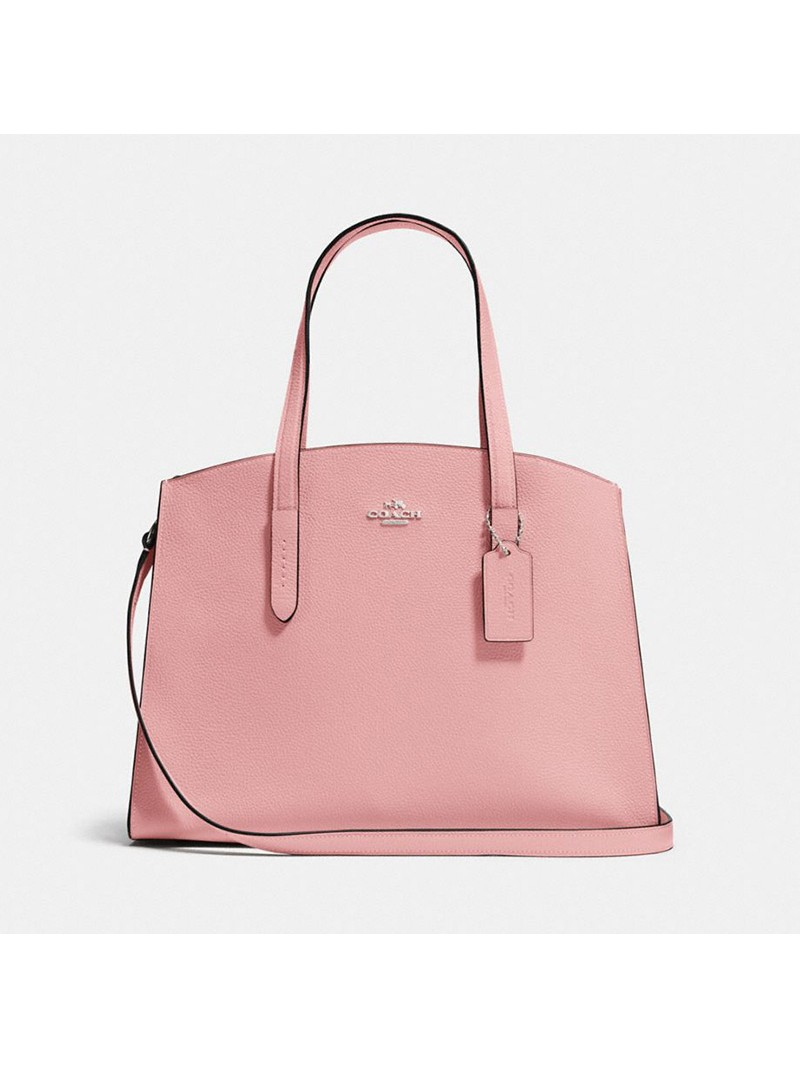 Coach Charlie Carryall in Pebble Leather Pink