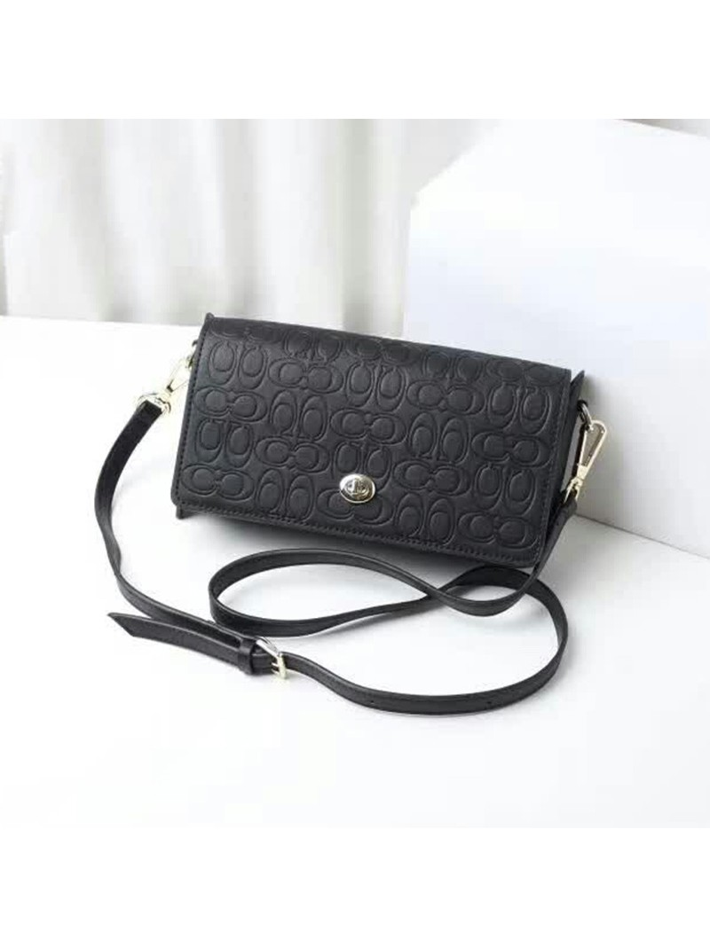 Coach Dinky Bag in Signature Leather Black