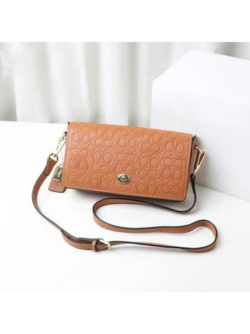 Coach Dinky Bag in Signature Leather Brown