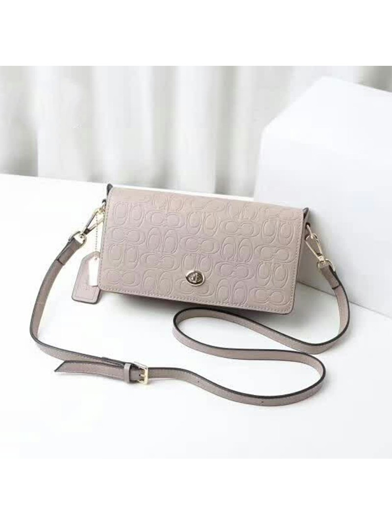 Coach Dinky Bag in Signature Leather Grey