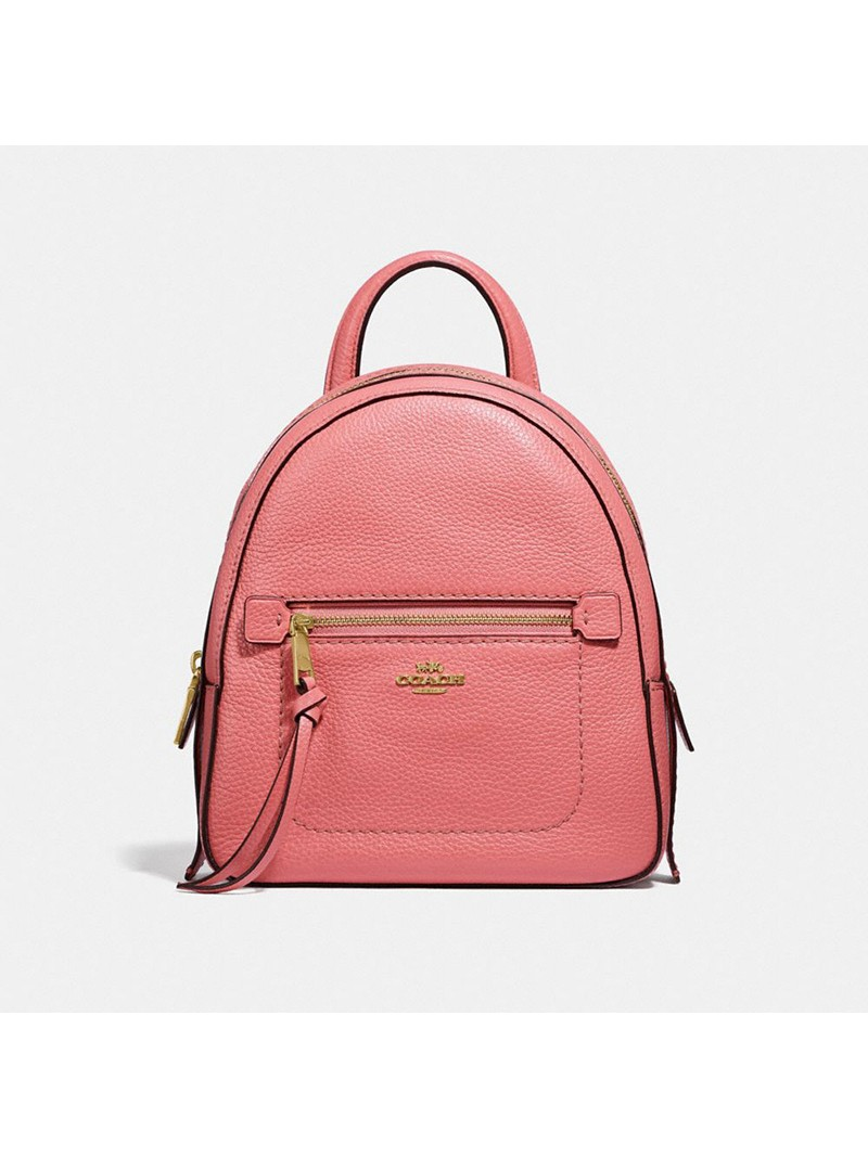 Coach Andi Backpack in Pebble Leather Pink