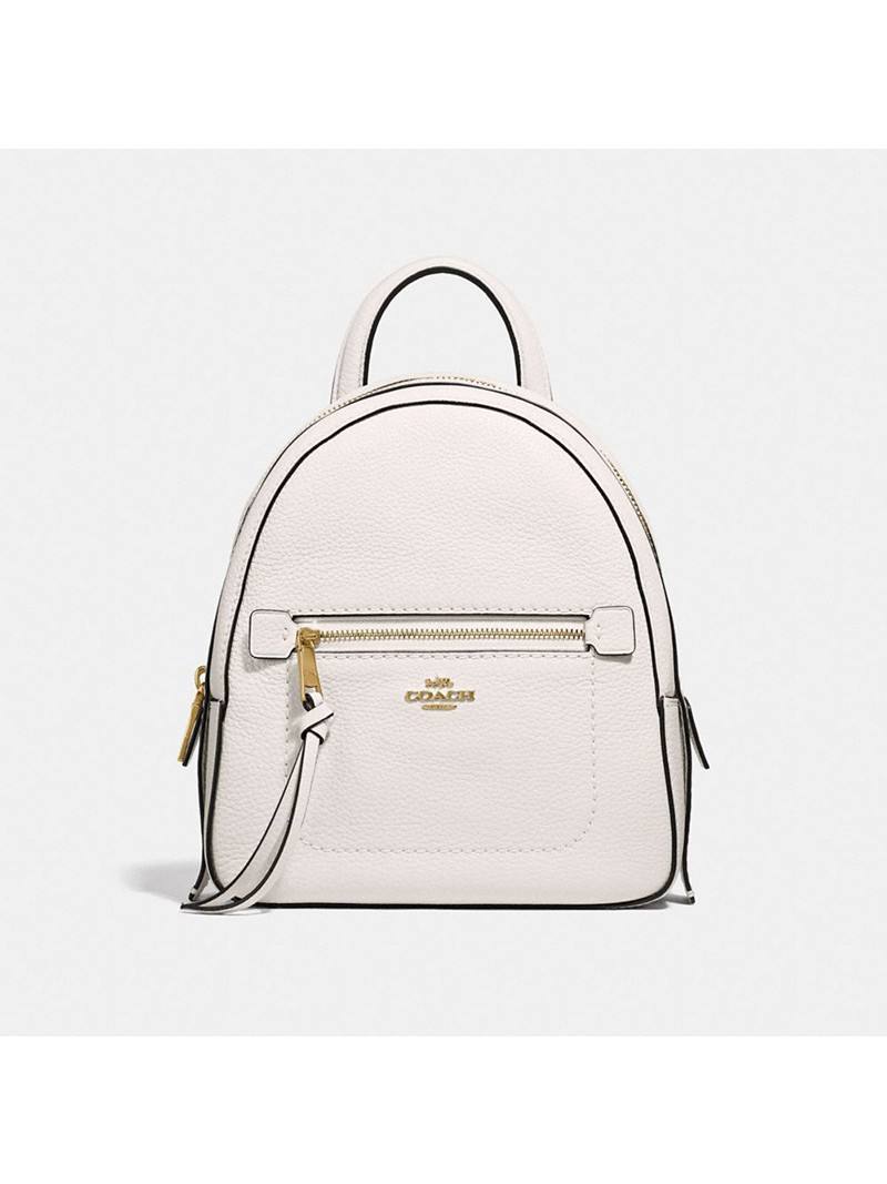 Coach Andi Backpack in Pebble Leather White
