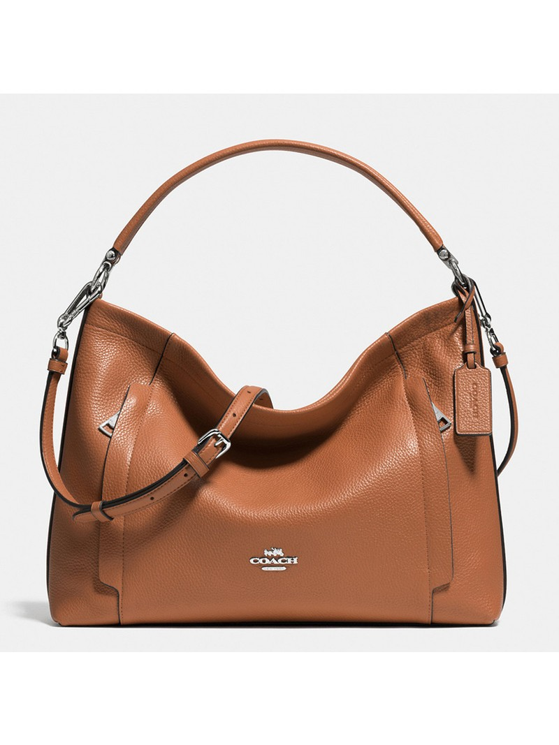 Coach Scout Hobo In Pebble Leather Brown