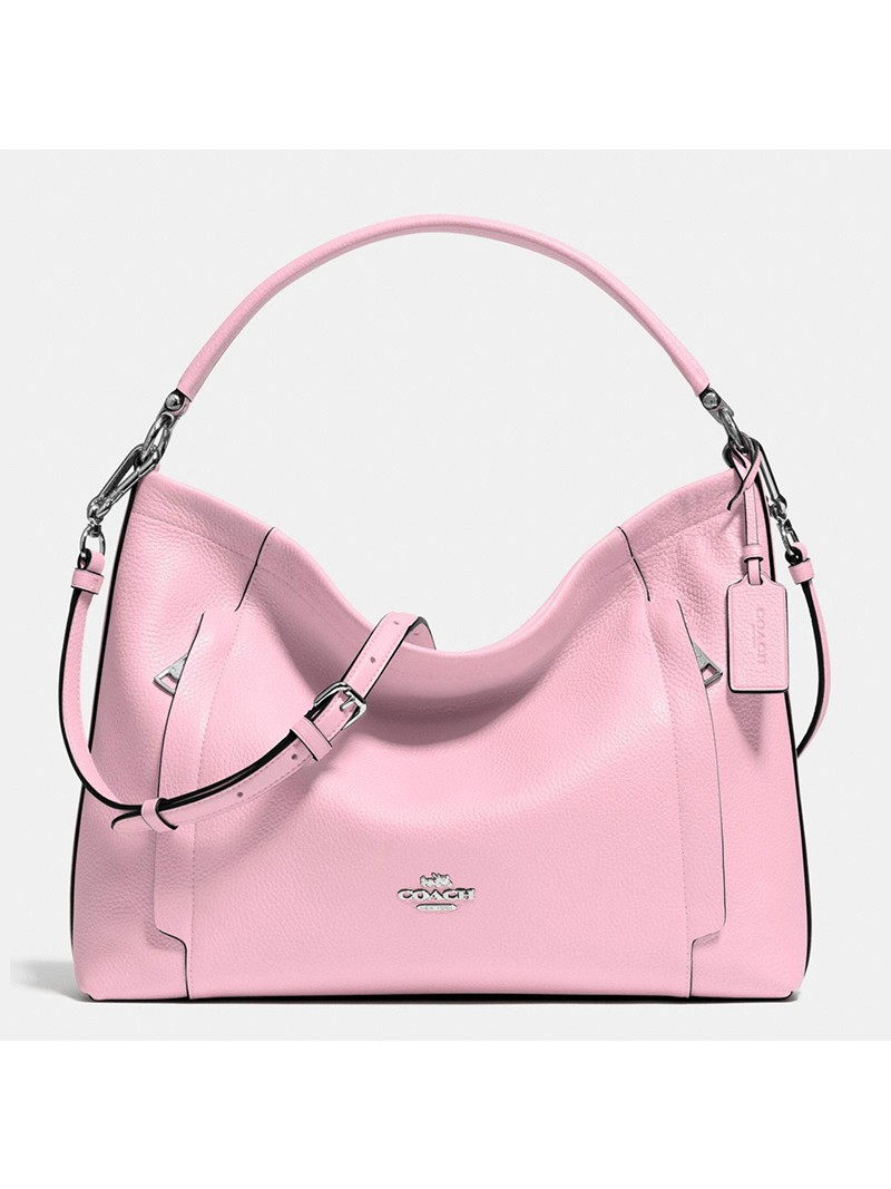 Coach Scout Hobo In Pebble Leather Pink