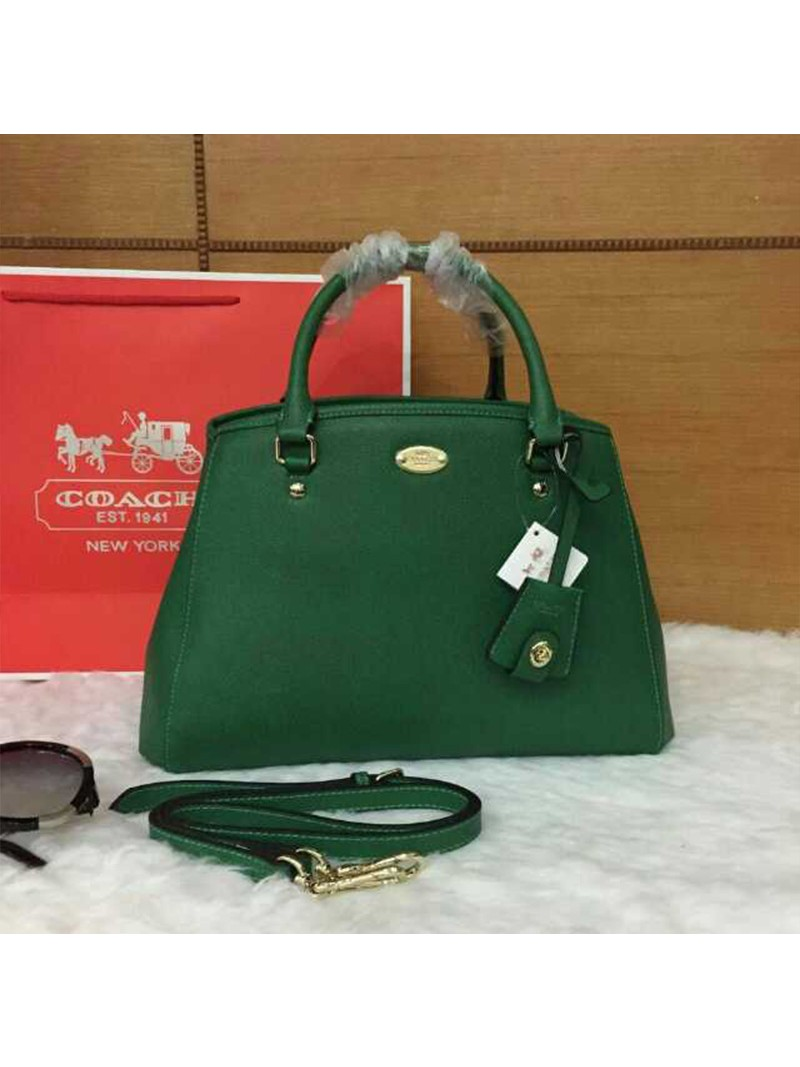 Coach Small Margot Carryall in Leather Green