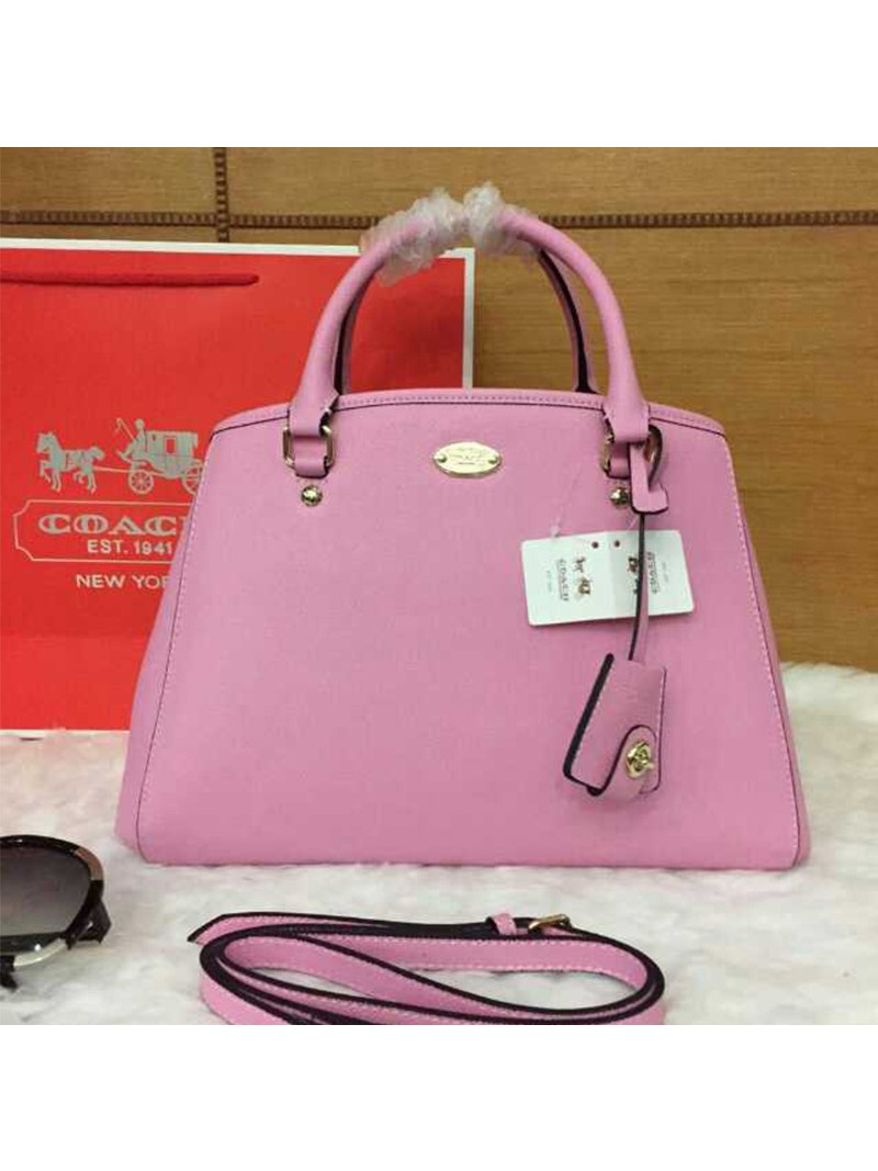 Coach Small Margot Carryall in Leather Pink