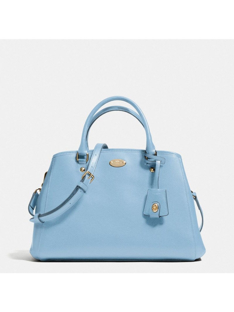 Coach Small Margot Carryall in Leather Sky Blue