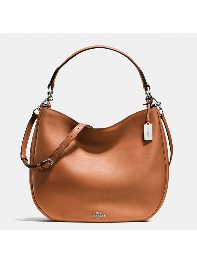 Coach Nomad Hobo In Glovetanned Leather Brown
