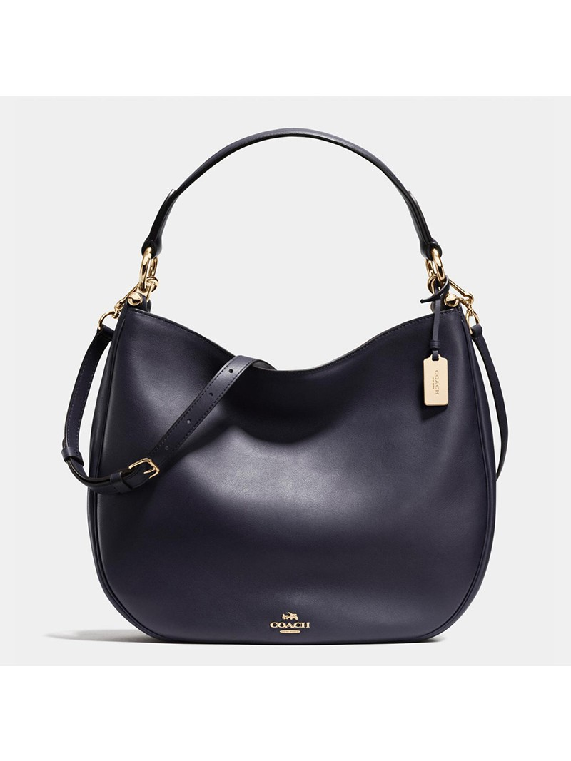 Coach Nomad Hobo In Glovetanned Leather Navy Blue