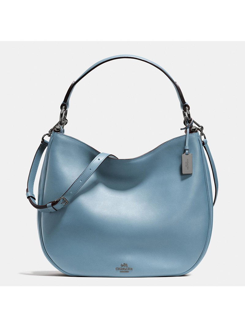 Coach Nomad Hobo In Glovetanned Leather Sky Blue