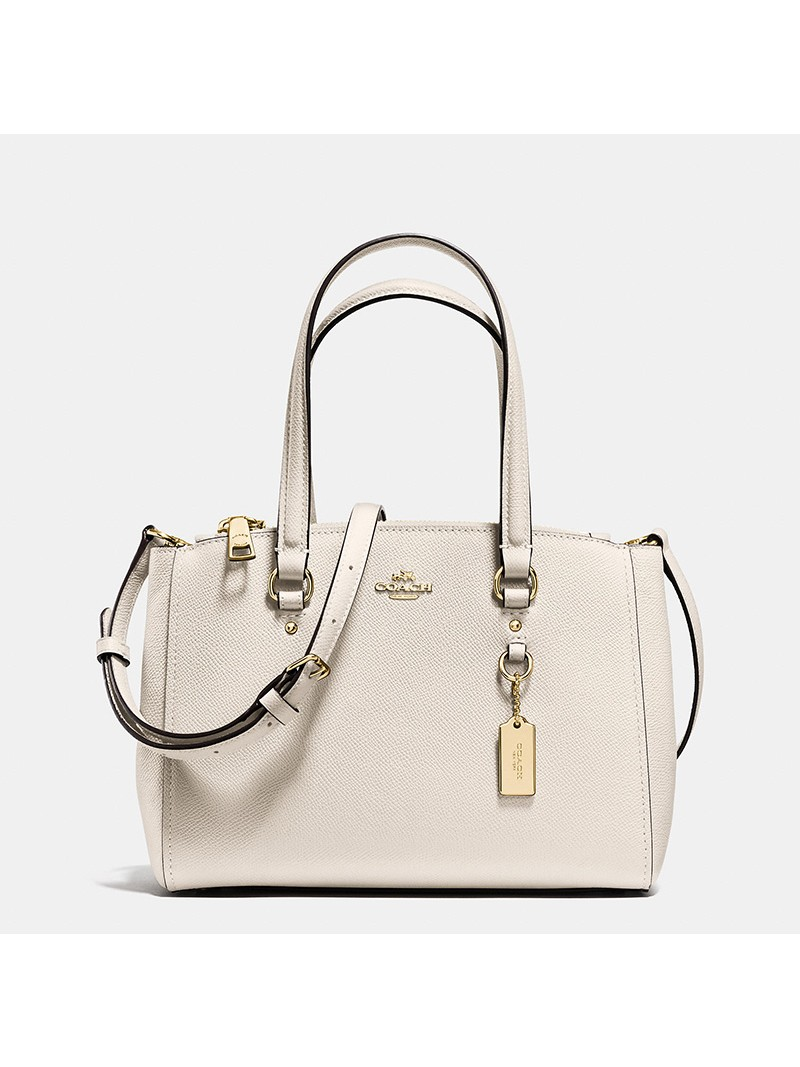 Coach Stanton Carryall 26 in Crossgrain Leather White