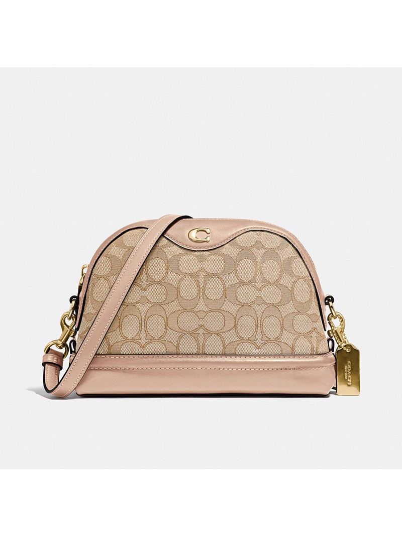 Coach Ivie Crossbody In Signature Jacquard Apricot
