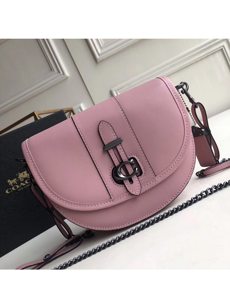 Coach Saddle 20 Bag In Glovetanned Leather Pink