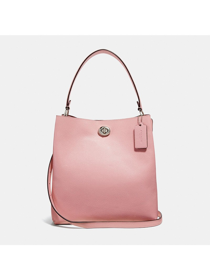Coach Charlie Bucket Bag in Pebble Leather Pink