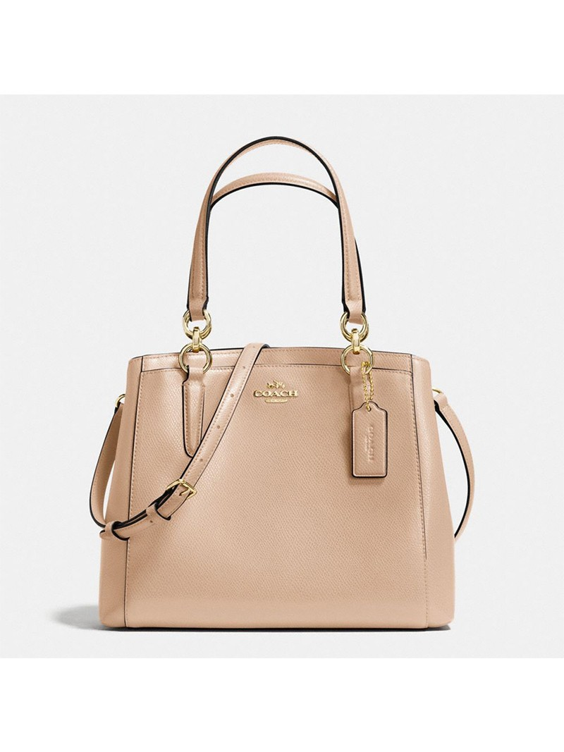 Coach Minetta Crossbody in Crossgrain Leather Apricot