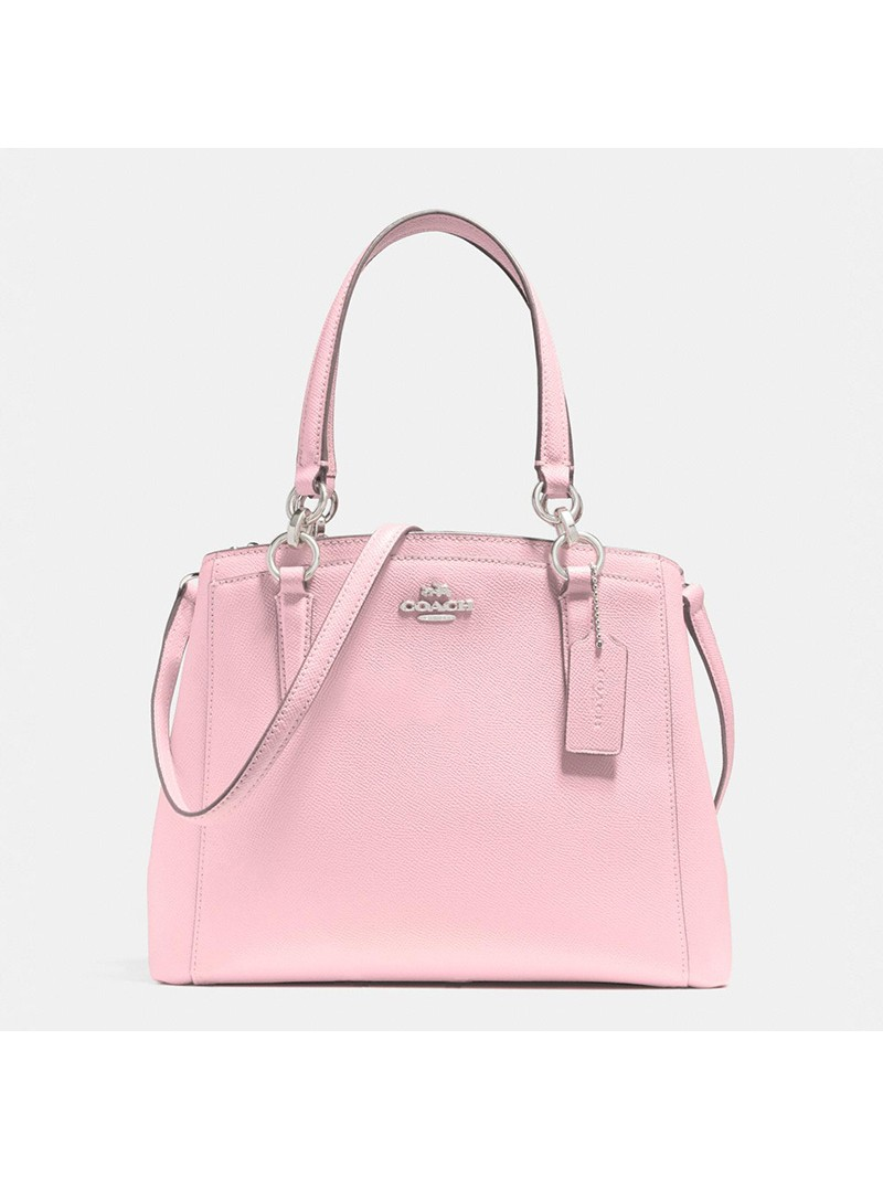 Coach Minetta Crossbody in Crossgrain Leather Pink