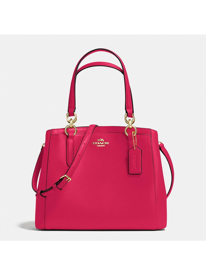 Coach Minetta Crossbody in Crossgrain Leather Red