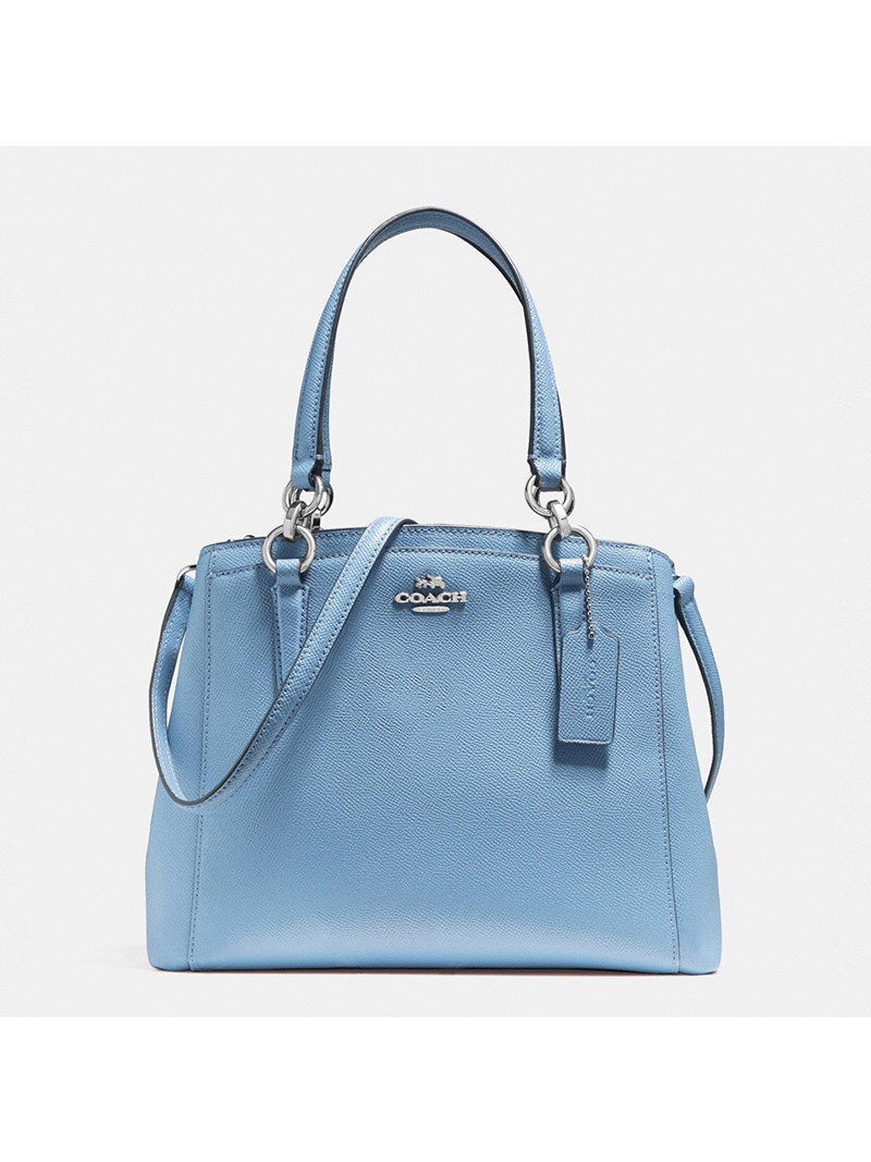 Coach Minetta Crossbody in Crossgrain Leather Sky Blue