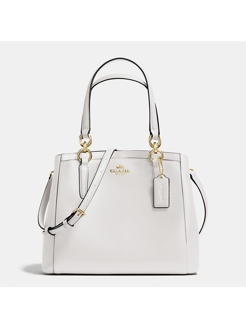 Coach Minetta Crossbody in Crossgrain Leather White