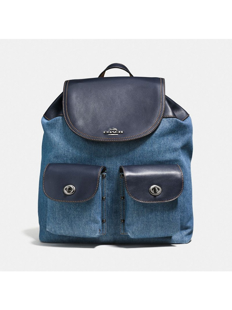 Coach Billie Backpack in Denim Navy Blue