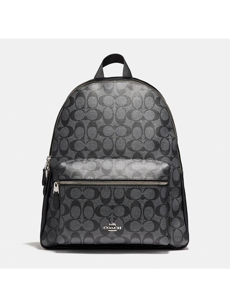 Coach Charlie Backpack in Signature Canvas Black