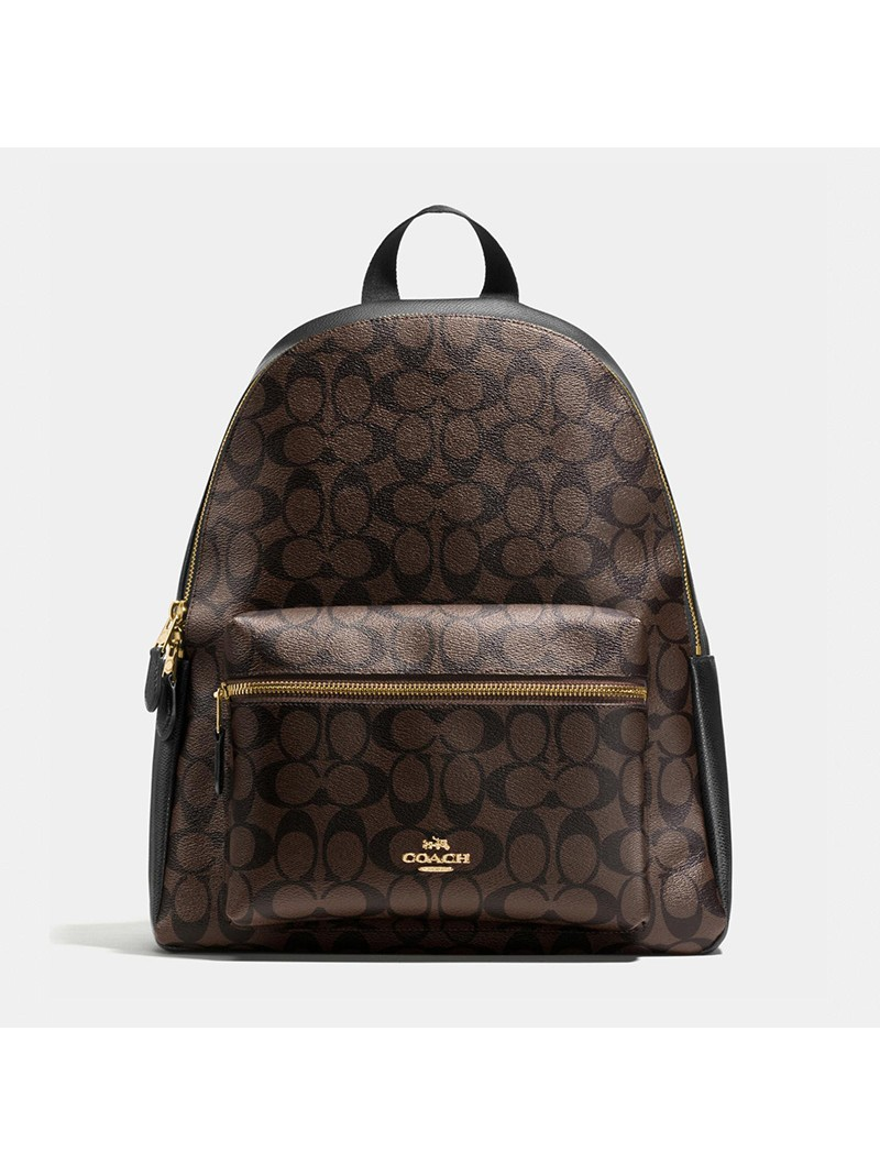 Coach Charlie Backpack in Signature Canvas Coffee