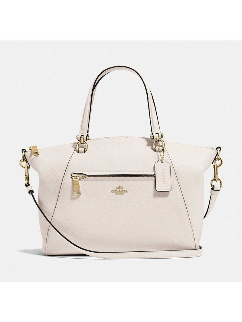 Coach Prairie Satchel in Pebble Leather White