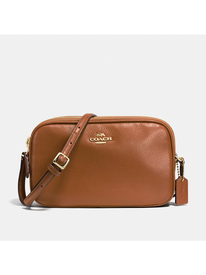 Coach Crossbody Pouch in Pebble Leather Brown