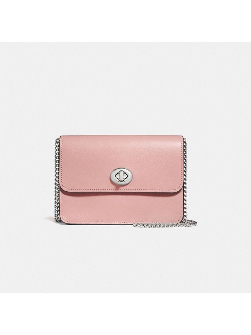 Coach Bowery Crossbody In Signature Canvas Pink
