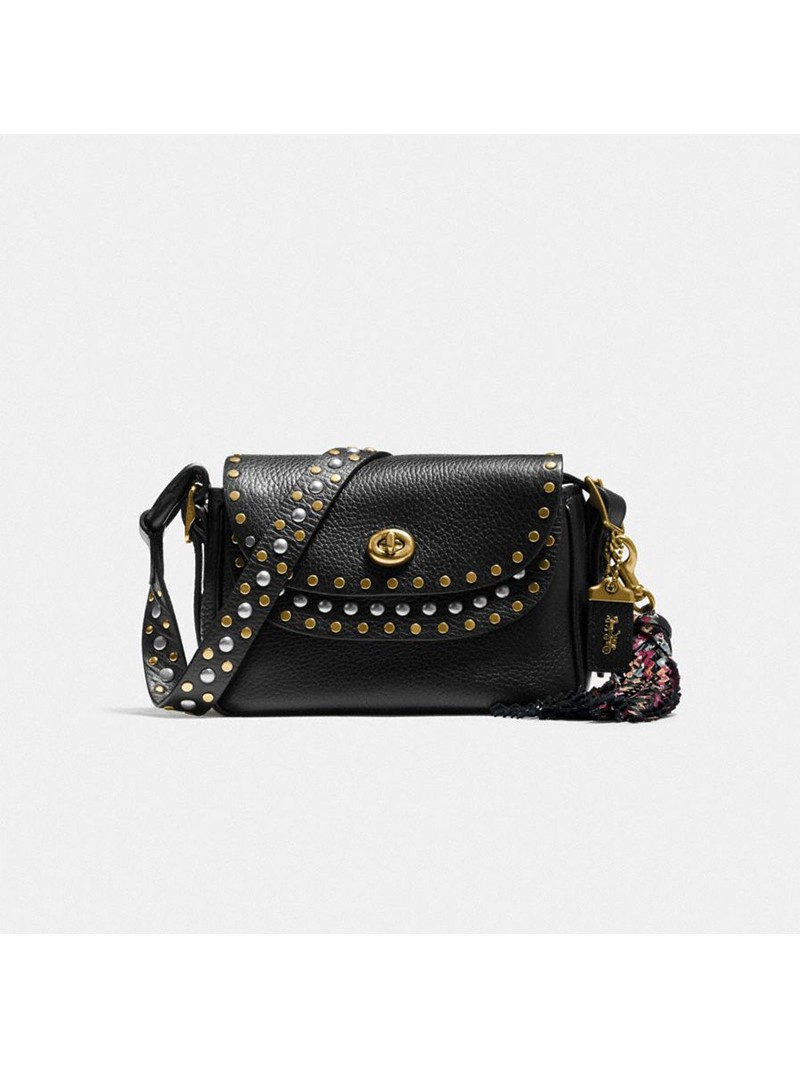 Coach X Tabitha Simmons Crossbody 17 With Rivets Black